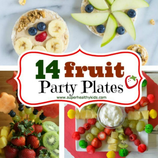 14 Fruit Party Plates. Fruit is our favorite thing to bring to potlucks and parties! Check out our 14 fruit platter ideas here.