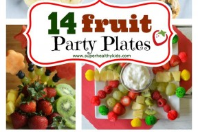 14 fruit party plates collage