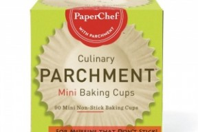 Parchment Lined Mini Baking Cups