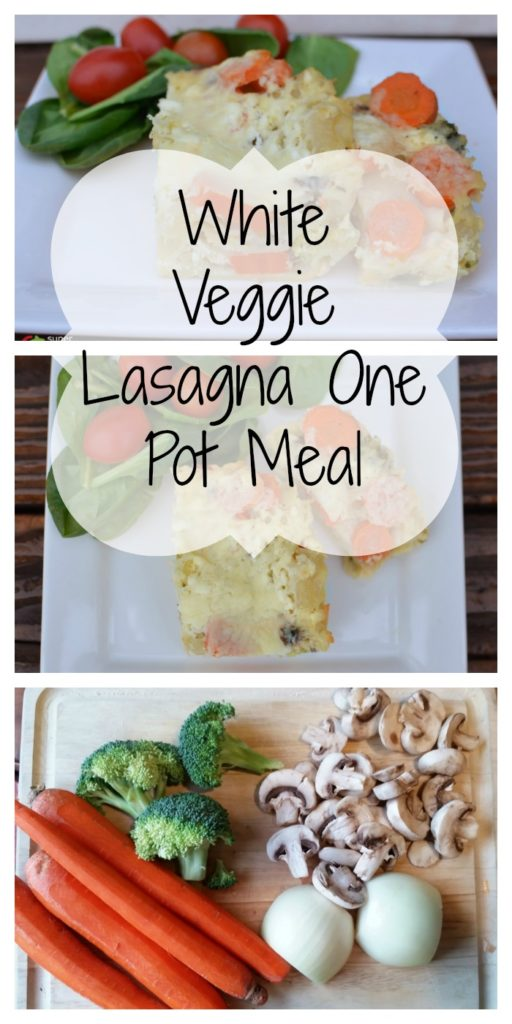 White Veggie Lasagna One Pot Meal