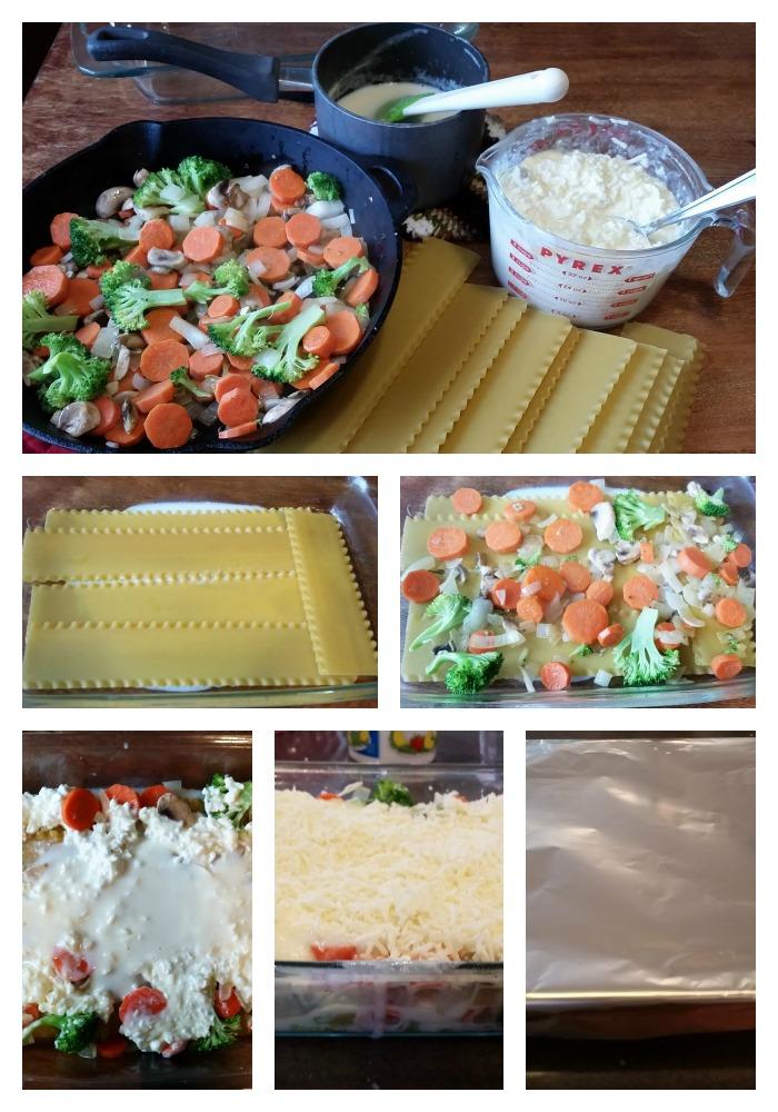 steps to make veggie lasagna
