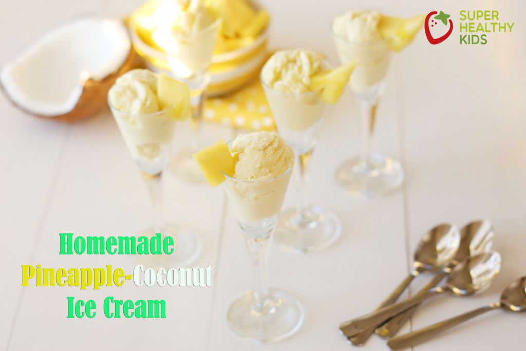 Pineapple Coconut Ice Cream Dairy Free. The Best & Healthiest Dairy Free Ice Cream!