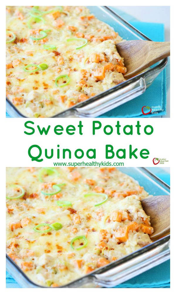 FOOD - Sweet Potato Quinoa Bake. Sweet Potatoes + Quinoa Casserole. Comfort food for a cold night! http://www.superhealthykids.com/sweet-potato-quinoa-bake/