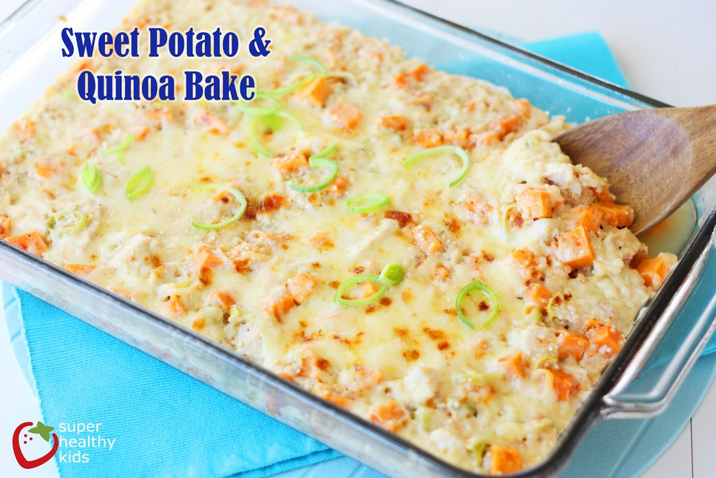 Sweet Potato Quinoa Bake. Sweet Potatoes + Quinoa Casserole. Comfort food for a cold night!
