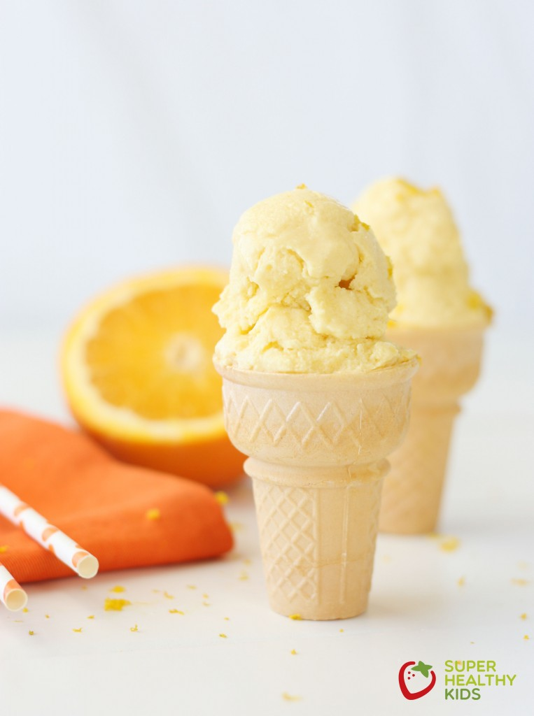 Homemade Orange Creamsicle Ice Cream Recipe. Refreshing and made with real fruit, try our orange creamsicle ice cream today!