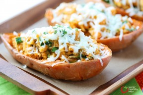 Italian Chicken and Spinach Stuffed Sweet Potatoes 2