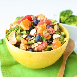 Loaded Broccoli Salad Recipe with Creamy Avocado Citrus Dressing