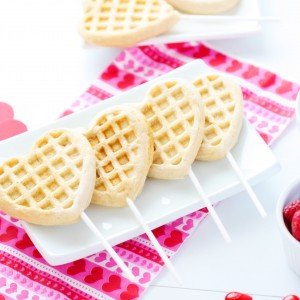 Valentines Waffle Bar for Kids