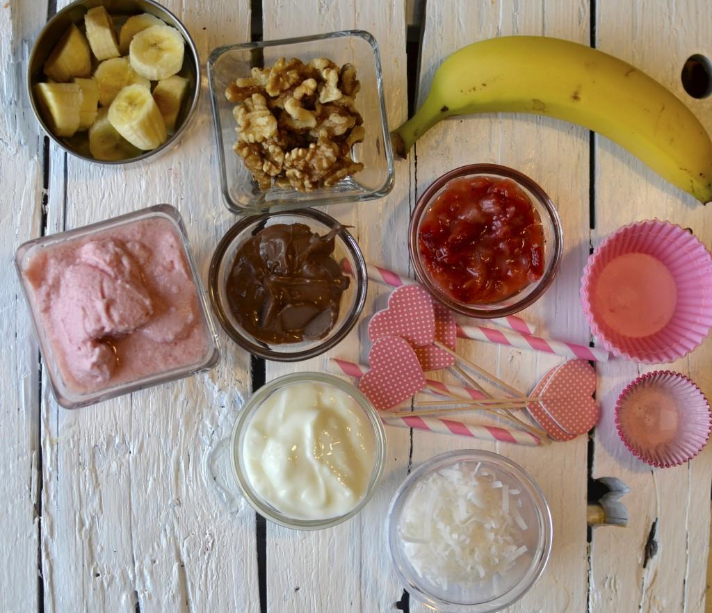 Healthy Banana Split Freezer Bites. These mini healthy banana split bites make a delicious frozen treat for kids.