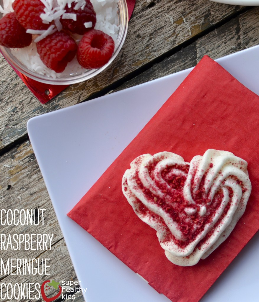 Coconut Raspberry Meringue Cookies. Light and fluffy meringue cookies that melt in your mouth!