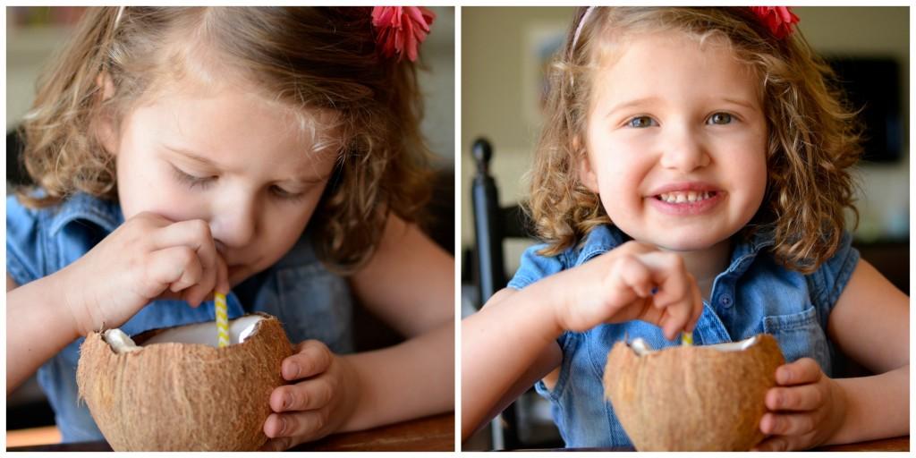COCONUT RASPBERRY CHIA SMOOTHIE! Full of good stuff, like omega 3 fatS! Kids love it!