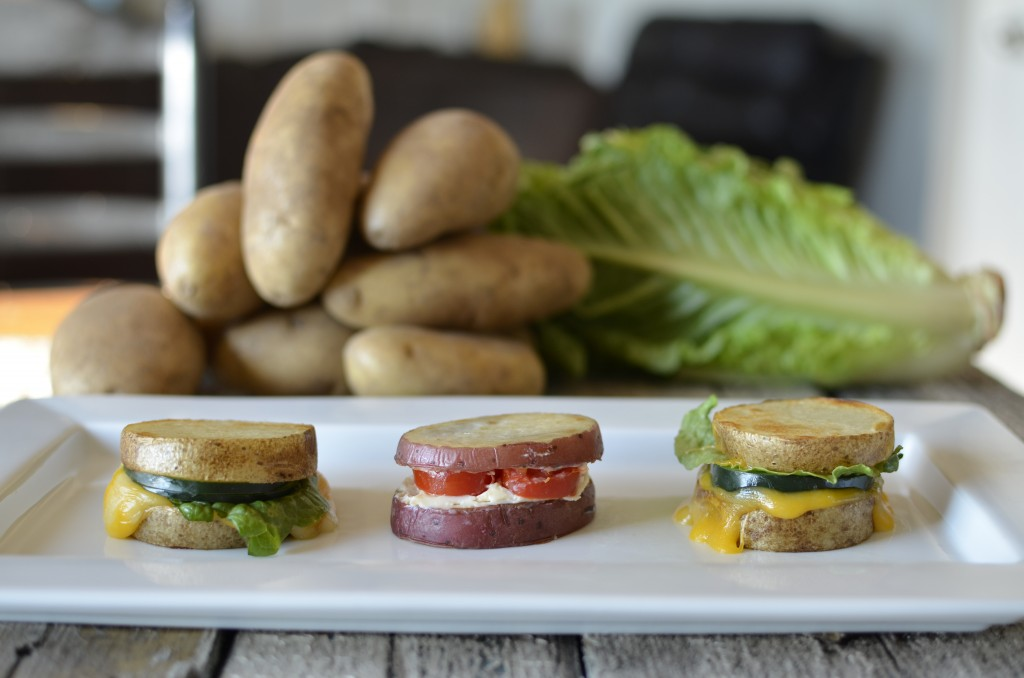 potato sandwiches with tomato