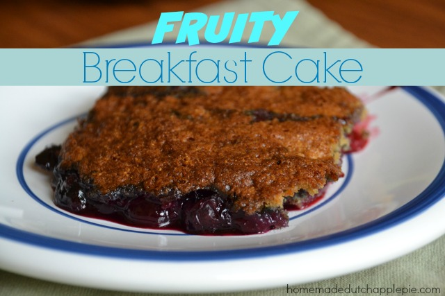 Fruity Breakfast Cake {Gluten Free, Dairy Free, Nut Free}. You won't have any problems feeding your kids cake for breakfast!