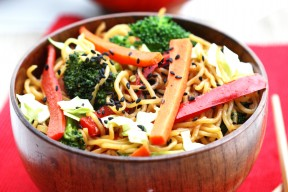 One Pot Veggie Yakisoba 2
