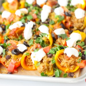 Quinoa Stuffed Mini Bell Nachos Recipe