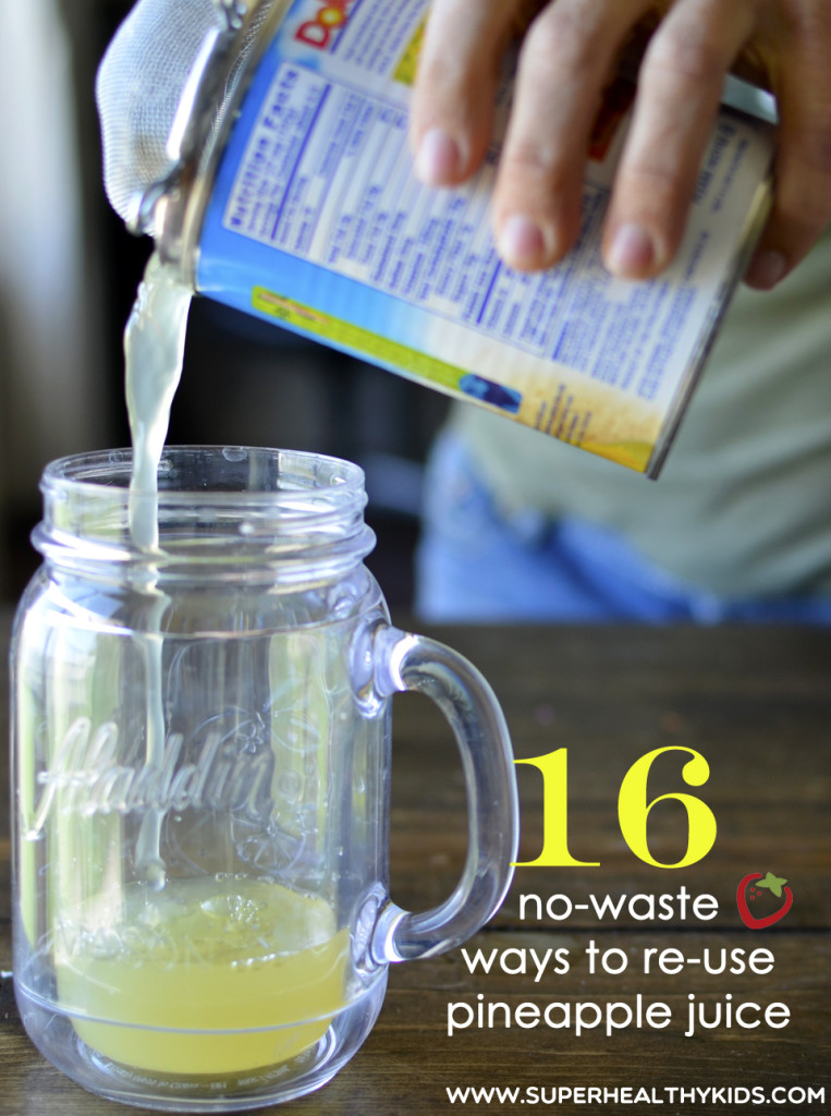 16 No Waste Ways To Reuse Pineapple Juice. Did you know you can bake with pineapple juice? I know one of these ideas you'll want to try today!