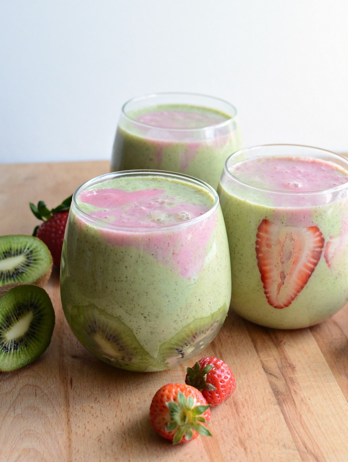 strawberry kiwi banana kiwi strawberry smoothie fresh strawberry kiwi ...