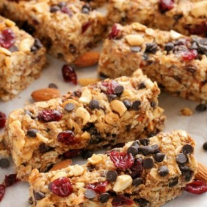 Peanut Butter Chocolate Trail Mix Granola Bar Recipe