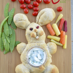 Veggie Bunny Tray with Spinach Dip