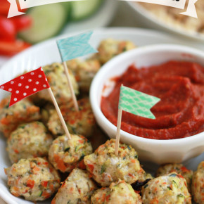 Pesto Chicken & Veggie Meatballs. (Free of the top 8 allergens!)