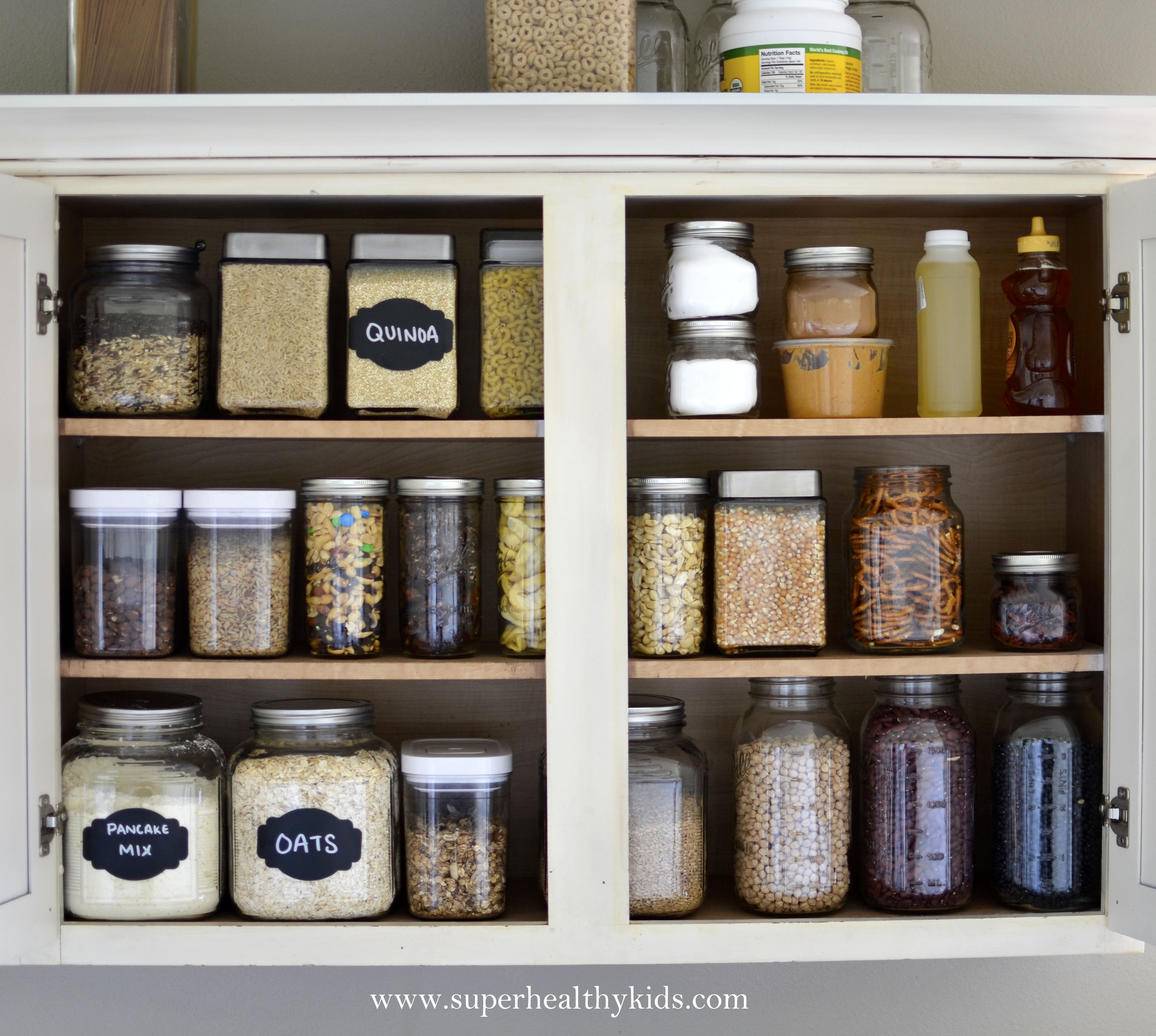 delightful How To Organize Food In Kitchen Cabinets #5: Kitchen Cabinet Makeover- Getting rid of the packaging!