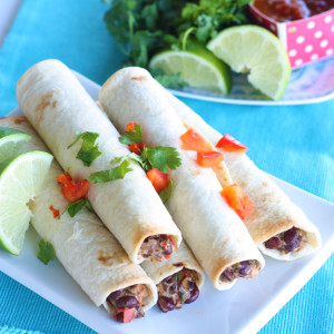 Crunchy Vegetarian Taquitos Recipe