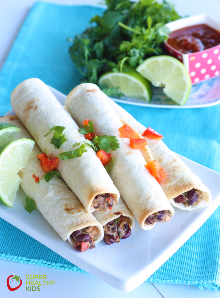 Crunchy Vegetarian Taquitos. Classic crispy bean taquito madeover with a veggie you would never expect!
