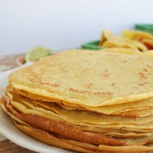 Golden Tortilla Crepes