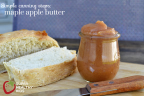 apple butter with homemade bread from super healthy kids