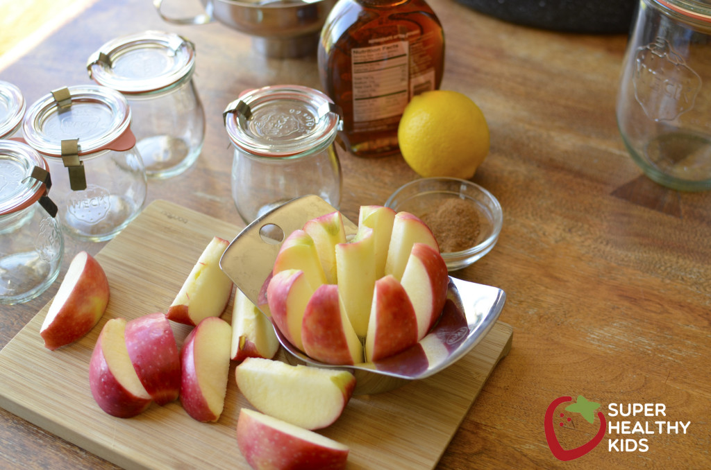 Homemade maple apple butter with super easy canning steps
