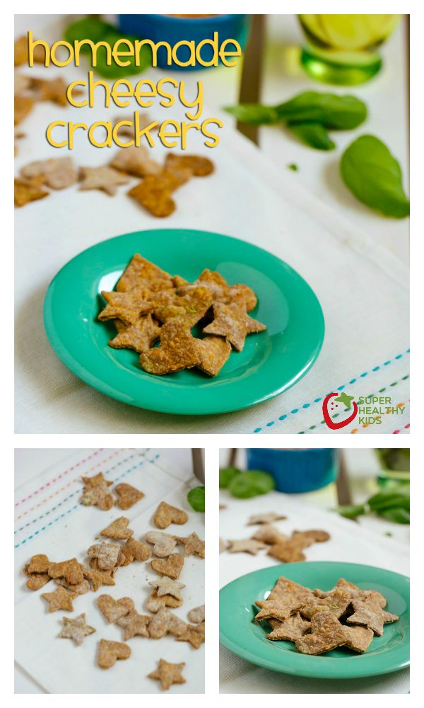 FOOD - Homemade Cheesy Crackers. Savory, cheesy, and the best part is they are healthy. Great alternative to goldfish crackers and MUCH better for your little ones. http://www.superhealthykids.com/homemade-crackers-for-toddlers-alternative-to-goldfish-crackers/