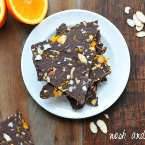 Chocolate Avocado Bark Recipe with Orange Zest and Almonds