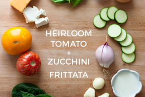 Heirloom Tomato and Zucchini Frittata