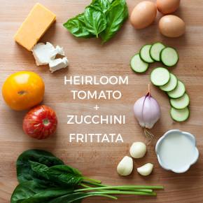 Heirloom Tomato and Zucchini Frittata