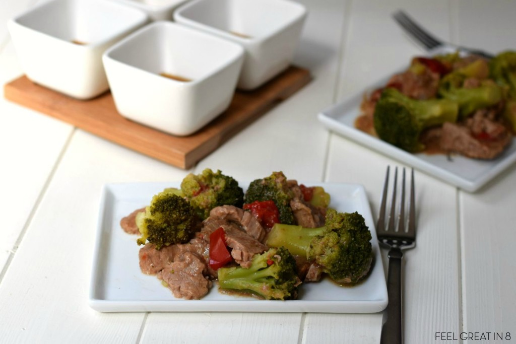 This delicious Slow Cooker Beef & Broccoli is the perfect healthy meal after a busy day of school, work, and soccer practice.