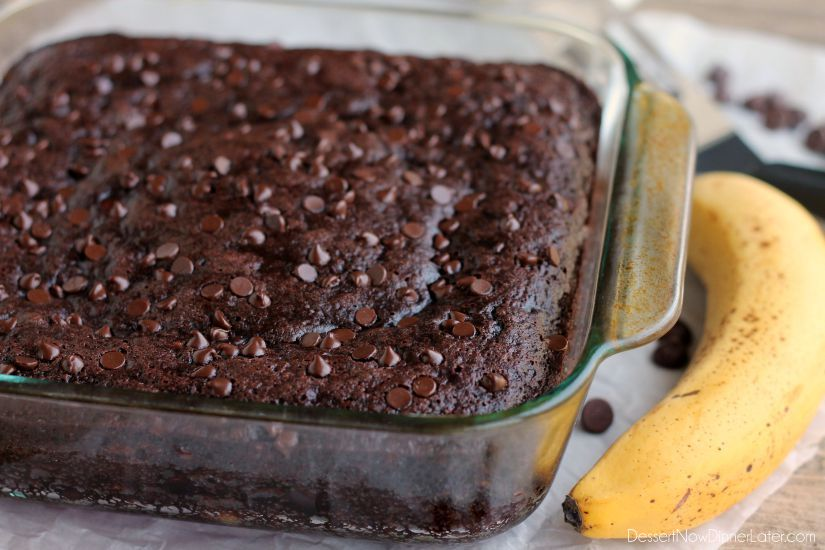 Double Chocolate Banana Cake. This lightened up chocolate cake has no ...