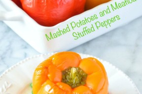 Mashed Potatoes and Meatloaf Stuffed Peppers