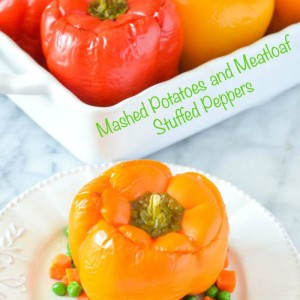 Mashed Potatoes and Meatloaf Stuffed Pepper Recipe