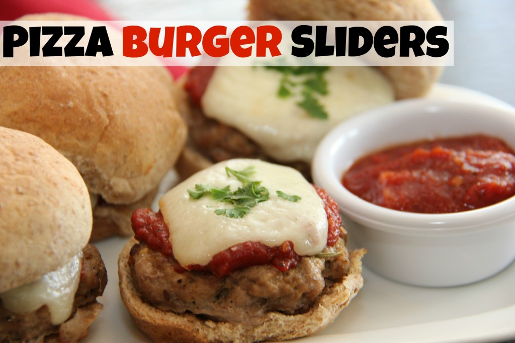 Pizza Burger Sliders. Two of the best flavors packed into one perfect size slider. www.superhealthykids.com