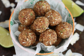 These Coconut Lime Energy Bites are great for nut-free school lunches and after school snacks!