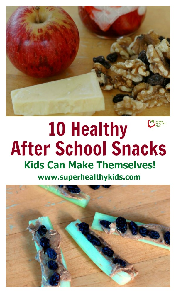 FOOD - 10 Healthy After School Snacks Kids Can Make Themselves! http://www.superhealthykids.com/10-healthy-school-snacks-kids-can-make/