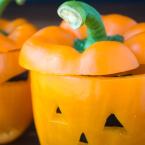 Jack - o - lantern bell peppers