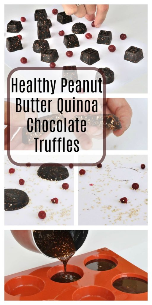 Healthy Peanut Butter Quinoa Chocolate Truffles