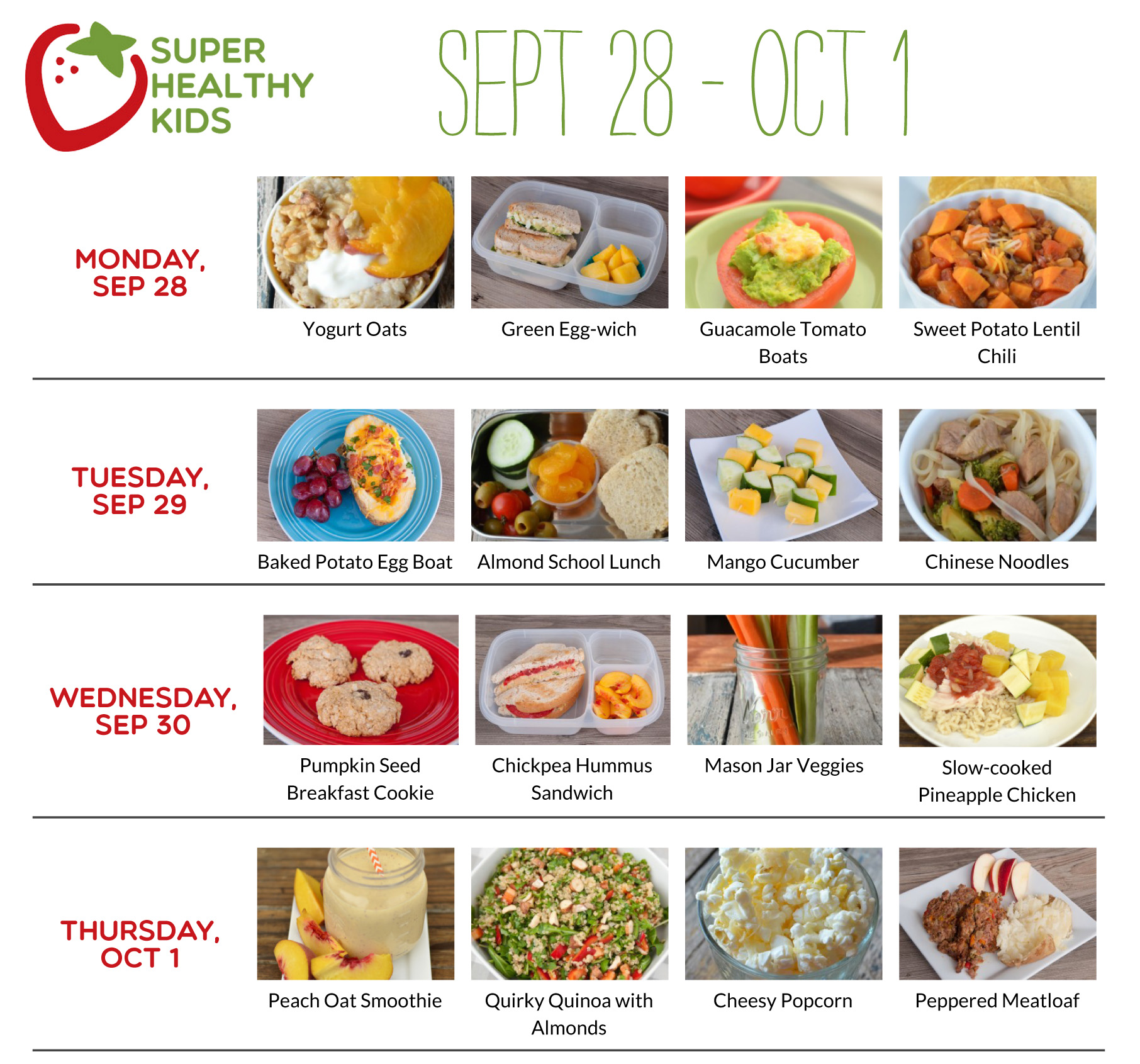 September 28-October 4 | Super Healthy Kids