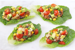 Packed full of protein these Chilli & Quinoa Lettuce Cups cooked in the slow cooker make a delicious, healthy and fun dinner for adults and kids!