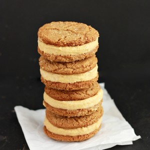 Pumpkin Ice Cream Sandwiches