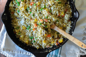 One-Skillet Fried Cauliflower Rice