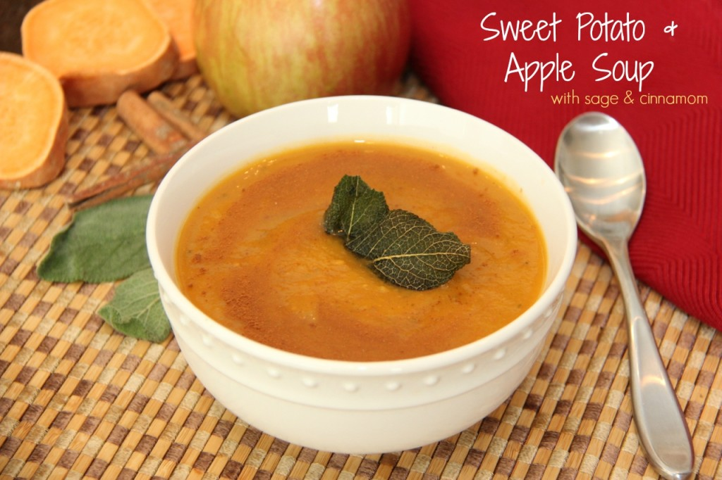 Sweet Potato and Apple Soup Recipe. A perfect balance of sweet and savory flavors that is gluten-free and dairy-free.