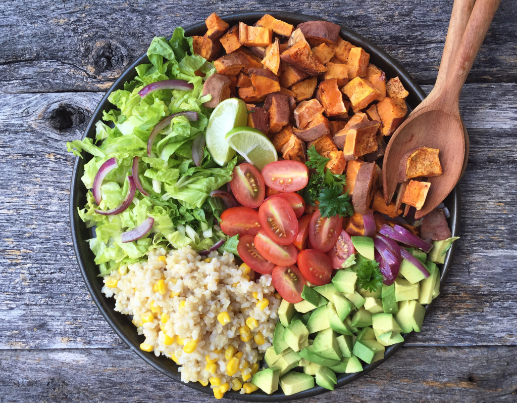 Taco Bowl with Avocado Lime Dressing. Move aside Cafe Rio! This taco bowl is fresh, amazingly delicious and can be made right in the comfort of your own kitchen! www.superhealthykids.com