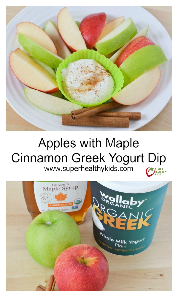 Apples with Maple Cinnamon Greek Yogurt Dip. Make your own dip that ...